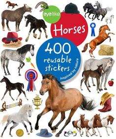 Horses - 400 Reusable Eyelike Stickers