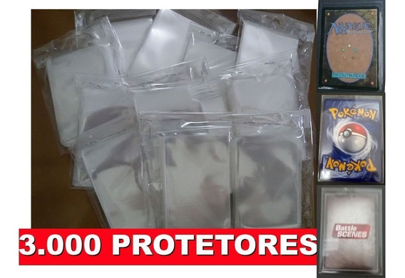 3.000 Sleeves Shields Protetores Card Pokemon Tcg Magic Mtg