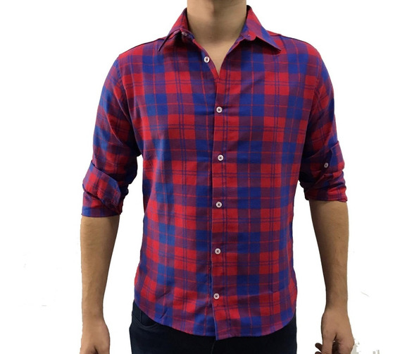 Camisa Masculina Xadrez Flanela Grosso Lenhador Moda