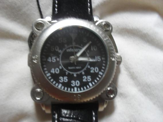 Lindo Relógio Analógico Infantry Pulseira De Couro Novo