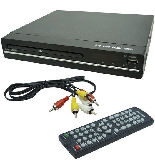 Dvd Player 3x1 Multilaser Usb Dvd Cd E Ripping *12x+frete*