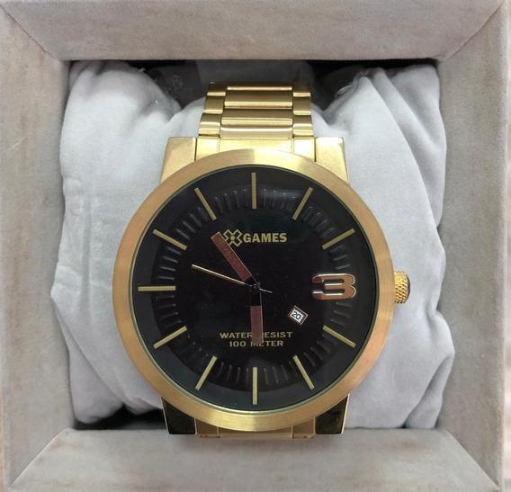 Relógio X-games Masculino Dourado Original C/ Garantia