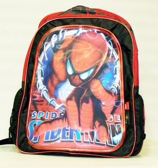 Mochila Spider-man 3d Gde Rojo C/cartuchera- Original