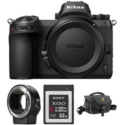Nikon Z7 Mirrorless Camera, Adaptador Ftz, Xqd 32gb E Case