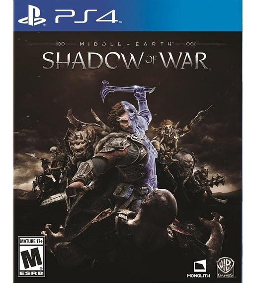 Middle Earth: Shadow Of War - Ps4 Lacrado