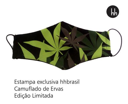 Máscara De Tecido Erva Com Forro Duas Camadas Kit Com 12