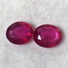 Rubi Pedras Preciosas, Par 5,20cts, 9x7