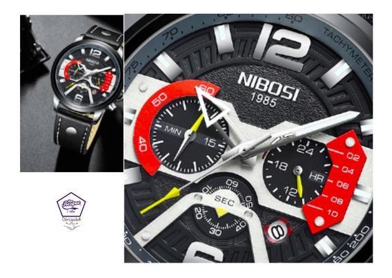 Relógio Nibosi2373 Funcional Pronta Entrega