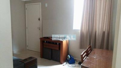 Apartamento Mobiliado Com 2 Dormitórios Para Alugar, 45 M² Por R$ 1.400/mês - Residencial Parque Padovani - Paulínia/sp - Ap1098