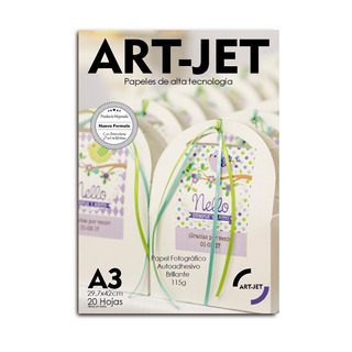 Papel Autoadhesivo Foto A3 Glossy Art-jet® X 20 Hojas 115gr