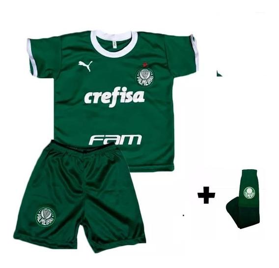 Conjunto Infantil Palmeiras 2019 + Meião Menino