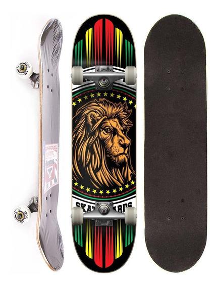 Skate Montado Completo Reality Semi Profissional Lion Street