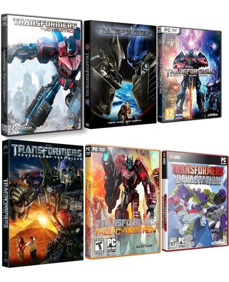 Combo: Transformers Saga - 6 Jogos - Pc Dvd - Frete Grátis