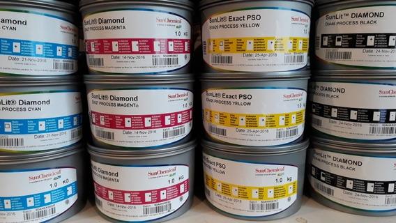 Tintas Sunchemical Para Offset Imprentas X 1 Kg Zona Sur