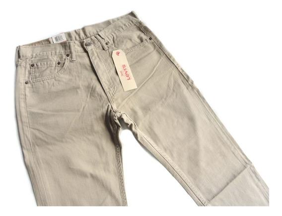 Calca Levis Jeans 505 Masculina Tradicional Caqui Original