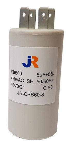 Capacitor De Marcha 8uf 450vac 50/60hz Jr