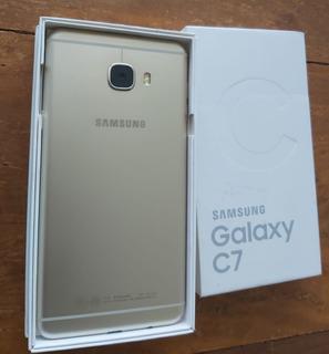 Celular Samsung C7 32gb Memória 4gb Ram Dourado Dual Chip