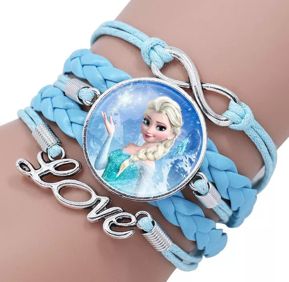 Pulseira Frozen Regulavel Menina Infantil Princesa Brinquedo