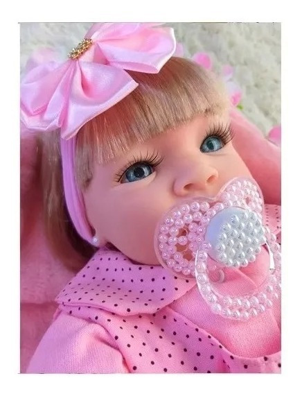 Boneca Reborn Bebê Envio Imediato Promoção Brinde Silicone