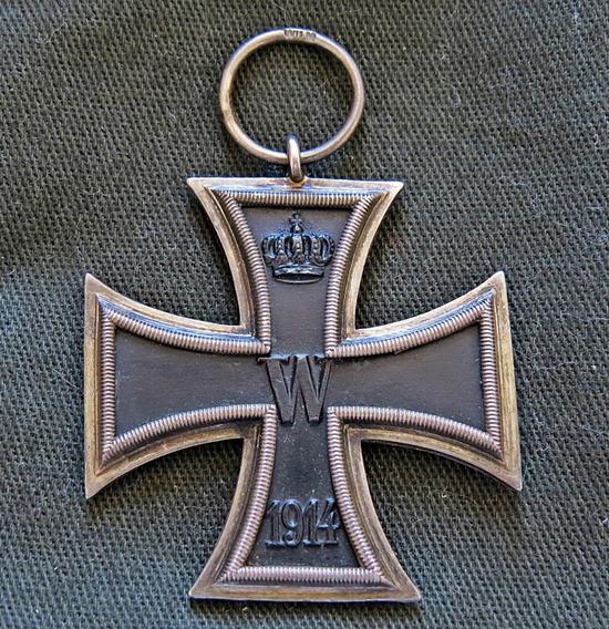 Cruz De Ferro Original Ww1 - 2ª Cl. Marcada Cd 800 Prata