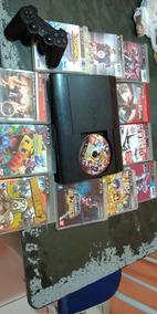 Ps3 Playstation 3 Slim + 11 Jogos Originais 1 Controle