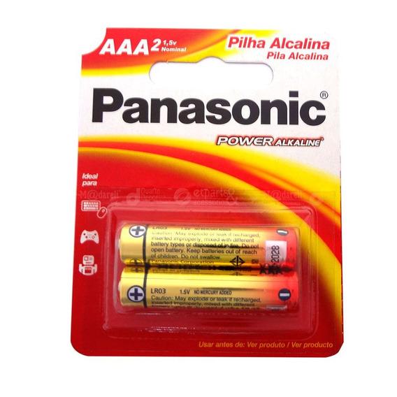 Pilha Alcalina Palito Aaa 2 Unidades - Panasonic 5 Packs