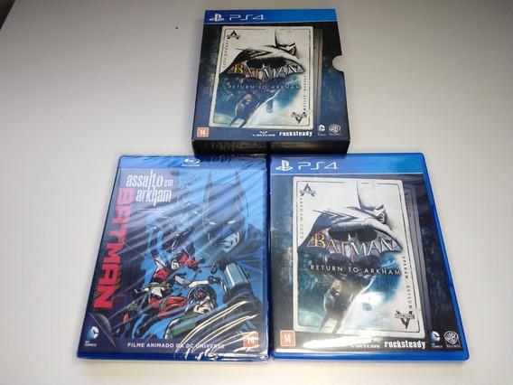 Batman Return To Arkham Ps4 Dois Jogos + Filme Lacrado