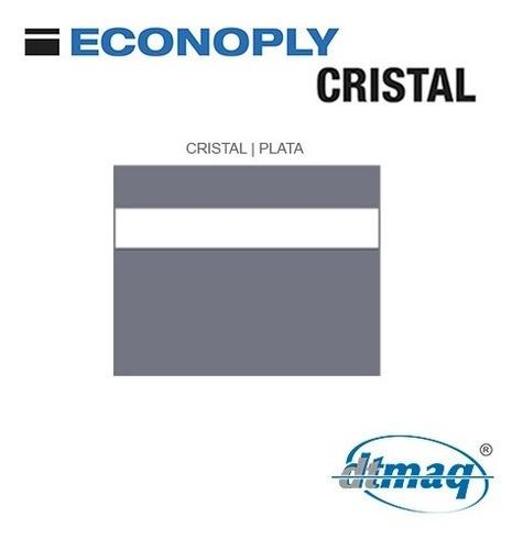 Plástico Bicapa Laserable Econoply Cristal / Plata 60x40cm