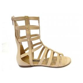c7660f24a5 Rasteirinha Gladiadora Via Marte - Sapatos Nude no Mercado Livre Brasil