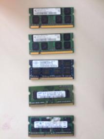 5 Memórias Ddr 1gb + (1) 2gb Notebook