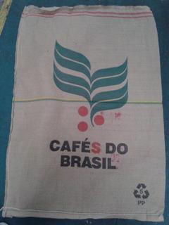Bolsa De Arpillera Cafe Do Brasil De Yute 100% Natural