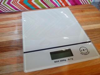 Balanza Digital Electrónica De Cocina 3kg Blanca
