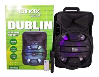 Parlante Portátil Dinax Dublín 12 Pulgadas, Bluetooth Y Mas