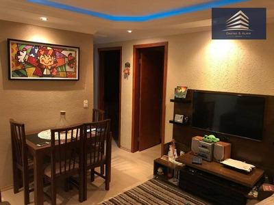 Apartamento No Condomínio Residencial Itália, 2 Dormitórios, 1 Vaga, Aceita Permuta. - Ap0607