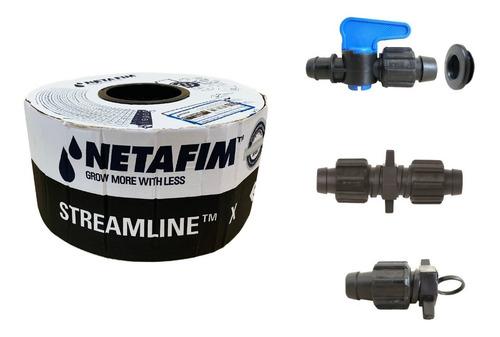 Imagem 1 de 6 de Fita De Gotejamento Netafim Streamline X 1000m + Conexões