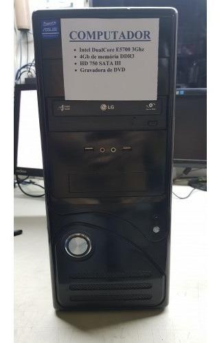 Computador Dualcore E5700 3ghz 4gb Memória Ddr3 Hd 750gb