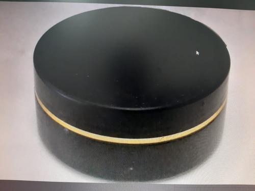 36 Potes Plásticos Creme 120g Preto Pomada Fio Dourado