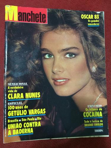 Manchete Brooke S Clara Nunes Oscar 83 Chacrinha Getulio V