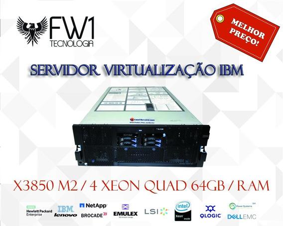 Servidor Virtualização Ibm X3850 M2 4 Xeon Quad 64gb Ram