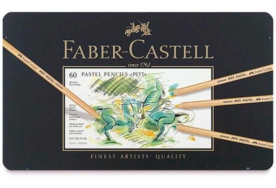 Lápis De Cor Pitt Pastel Seco Estojo 60 Cores Faber Castell