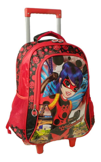 Mochila Escolar Infantil Rodinhas Wondergirl Vozz 5- 10 Anos