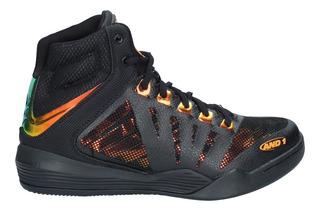 Zapatillas Basketball Hombre And1 Overdrive Negro Amarillo-1