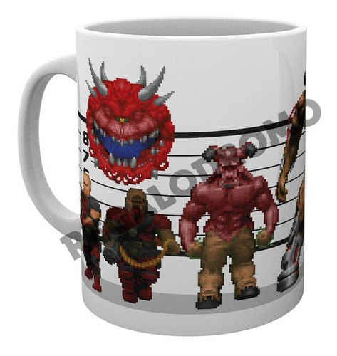 Mug De Doom, 11 Onzas, Nuevo, Cerámica, M2