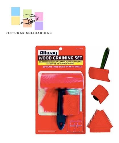 Imagen 1 de 1 de Veteador Para Pintar Con Acabado Imitación Madera Kit 3 Pzs