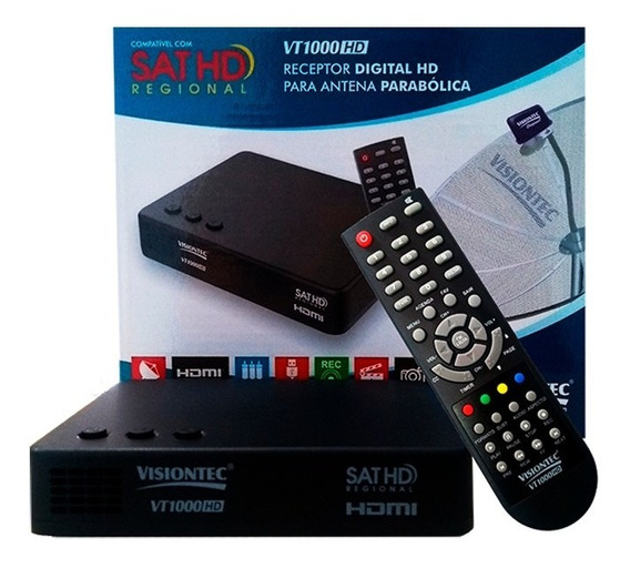 Receptor Vt1000hd C/ Globo Hd Regional E Tv Diario Fortaleza