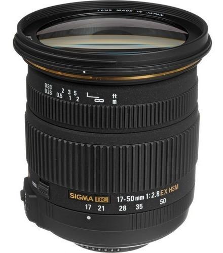 Lente Sigma 17-50mm F/2.8 Ex Dc Os Hsm - Nikon Novo