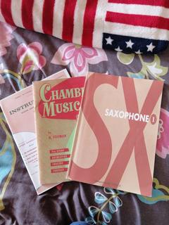Saxophone 1- 3 Libros De Partituras Y Lecciones Para Saxofón