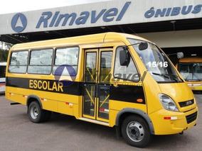 Micro Ônibus Escolar Ano 15/16 Iveco 30 Lugares Novo Sem Uso