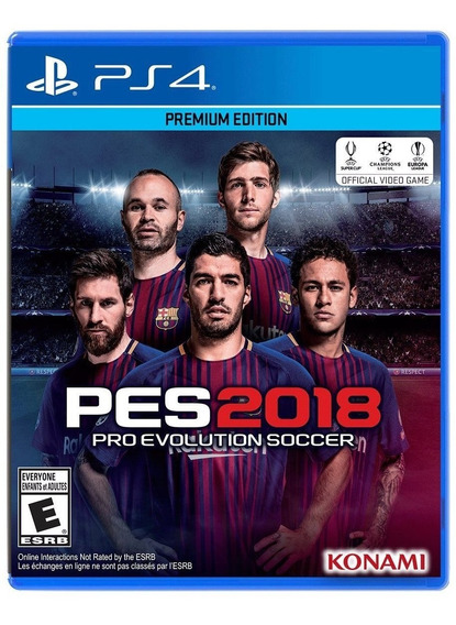 Pes 2018 Pro Evolution Soccer Juego Físico Ps4