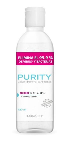 Purity Gel Desinfectante Elimina 99.9% Virus Bacterias 120ml